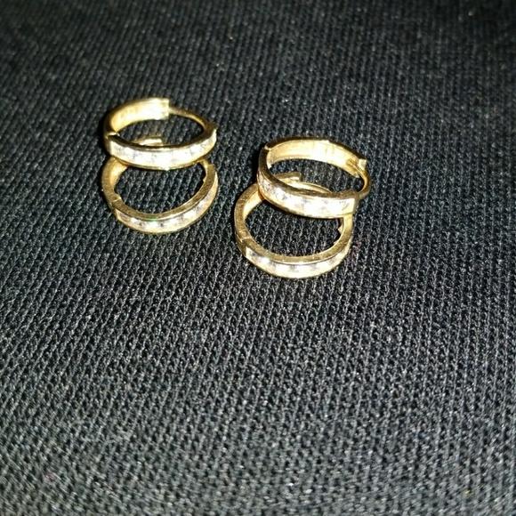 10kt Gold Jewelry 10Kt Gold Small Hoop Earrings Set Of 4 Poshmark